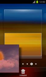 Samsung Galaxy S II - Operazioni iniziali - Installazione di widget e applicazioni nella schermata iniziale - Fase 7