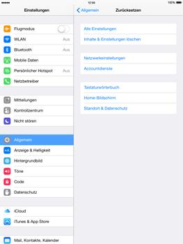 Apple iPad mini 2 - iOS 8 - Gerät - Zurücksetzen auf die Werkseinstellungen - Schritt 5