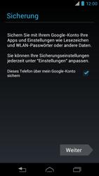 Motorola RAZR i - Apps - Konto anlegen und einrichten - 19 / 22