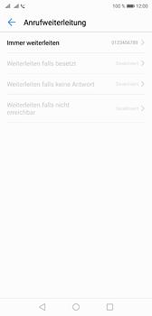 Huawei P20 - Anrufe - Rufumleitungen setzen und löschen - 8 / 9