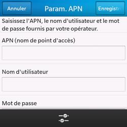 BlackBerry Q10 - Internet - configuration manuelle - Étape 9