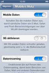 Apple iPhone 4 - Internet und Datenroaming - deaktivieren von Datenroaming - Schritt 5