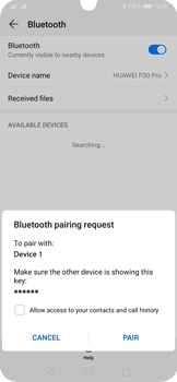 Huawei P30 Pro - Bluetooth - Connecting devices - Step 7