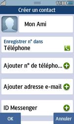 Samsung Wave 723 - Contact, Appels, SMS/MMS - Ajouter un contact - Étape 8