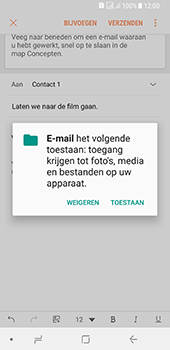 Samsung galaxy-a8-2018-sm-a530f-android-oreo - E-mail - Bericht met attachment versturen - Stap 12