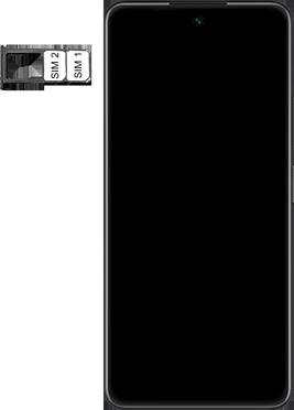 Huawei P Smart 2021 - Premiers pas - Insérer la carte SIM - Étape 5