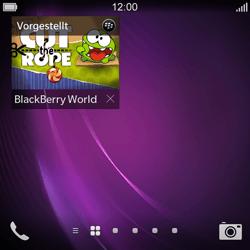 BlackBerry Q10 - Apps - Einrichten des App Stores - Schritt 14