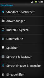Sony Xperia Sola - Fehlerbehebung - Handy zurücksetzen - 2 / 2