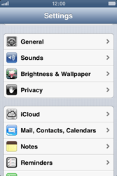 Apple iPhone 3GS - MMS - Manual configuration - Step 3