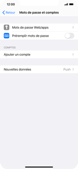 Apple iPhone XS Max - iOS 13 - E-mail - Configuration manuelle - Étape 5