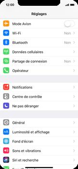 Apple iPhone X - Internet et roaming de données - Comment vérifier que la connexion des données est activée - Étape 3