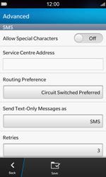 BlackBerry Z10 - SMS - Manual configuration - Step 7