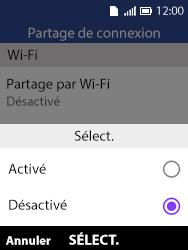 Alcatel 3088X - Internet et connexion - Partager votre connexion en Wi-Fi - Étape 13