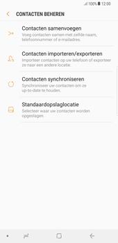 Samsung Galaxy S8+ - Android Oreo (SM-G955F) - Contacten en data - Contacten kopiëren van toestel naar SIM - Stap 7