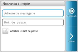 HTC A810e ChaCha - E-mail - Configuration manuelle - Étape 5