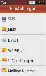 Samsung S5230 Star - SMS - Manuelle Konfiguration - Schritt 5