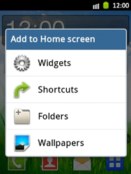 Samsung Galaxy Pocket - Getting started - Installing widgets and applications on your start screen - Step 3