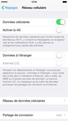 Apple iPhone 6 iOS 8 - Internet et roaming de données - Comment vérifier que la connexion des données est activée - Étape 5