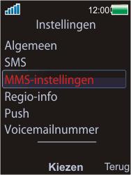 Sony Ericsson W595 - MMS - handmatig instellen - Stap 5