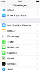 Apple iPhone 5S mit iOS 8 - Anrufe - Rufumleitungen setzen und löschen - Schritt 3