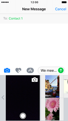 Apple iPhone SE - iOS 10 - MMS - Sending pictures - Step 9