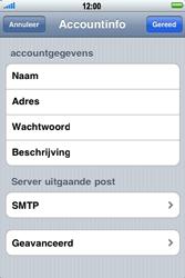 Apple iPhone 4 - E-mail - Handmatig instellen - Stap 16