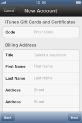 Apple iPhone 4 S - Applications - Create an account - Step 14