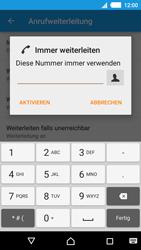 Sony Xperia M4 Aqua - Anrufe - Rufumleitungen setzen und löschen - 0 / 0