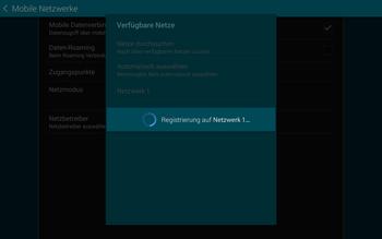 Samsung T805 Galaxy Tab S - Netzwerk - Manuelle Netzwerkwahl - Schritt 10