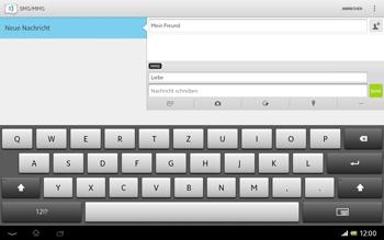 Sony Xperia Tablet Z LTE - MMS - Erstellen und senden - Schritt 14