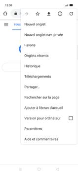 Oppo Find X2 Lite - Internet et connexion - Naviguer sur internet - Étape 9