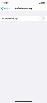 Apple iPhone X - iOS 13 - Anrufe - Rufumleitungen setzen und löschen - Schritt 5