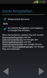 Samsung Galaxy Trend Lite - Apps - Einrichten des App Stores - Schritt 18