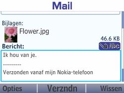 Nokia Asha 210 - E-mail - E-mails verzenden - Stap 18