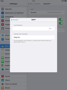 Apple iPad 2 iOS 8 - E-mail - Account instellen (IMAP zonder SMTP-verificatie) - Stap 18
