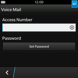 BlackBerry Q10 - Voicemail - Manual configuration - Step 8