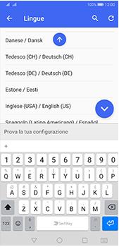 Huawei P20 Pro - Android Pie - Operazioni iniziali - Come aggiungere una lingua alla tastiera - Fase 10