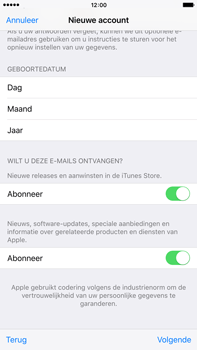 Apple iPhone 6 Plus (iOS 9) - apps - account instellen - stap 17