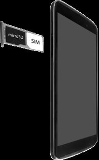 "Alcatel Idol 3 - 4.7"" - SIM-Karte - Einlegen - 1 / 1"