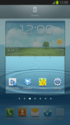 Samsung Galaxy S III - Getting started - Installing widgets and applications on your start screen - Step 6