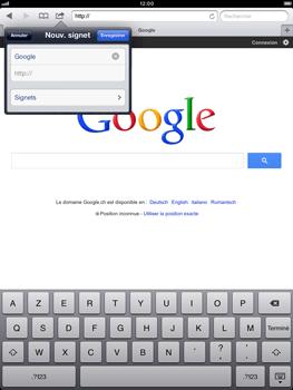 Apple iPad Retina - Internet et roaming de données - Navigation sur Internet - Étape 8
