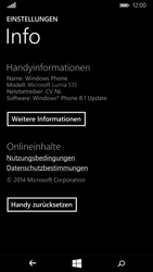 Microsoft Lumia 535 - Fehlerbehebung - Handy zurücksetzen - Schritt 7