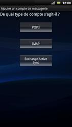 Sony Xperia Arc - E-mail - Configuration manuelle - Étape 6