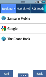 Samsung S5250 Wave 525 - Internet - Internet browsing - Step 9