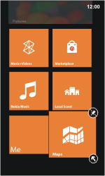 Nokia Lumia 800 / Lumia 900 - Getting started - Personalising your Start screen - Step 6