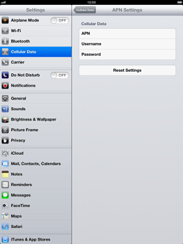 Apple iPad Retina - Internet and data roaming - Manual configuration - Step 6