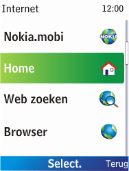 Nokia X2-00 - Internet - Internetten - Stap 3