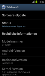 Samsung Galaxy S II - Software - Installieren von Software-Updates - Schritt 6
