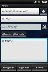 Sony Xperia Mini Pro - E-mail - Envoi d