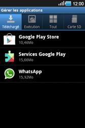 Samsung Galaxy Ace - Applications - Supprimer une application - Étape 6